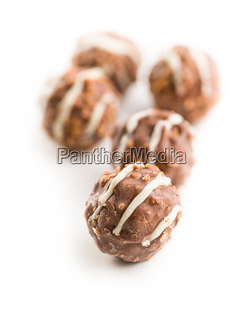 sweet chocolate truffles chocolate balls