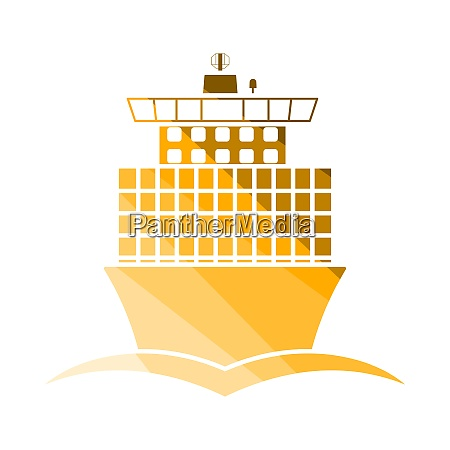 container ship icon front view