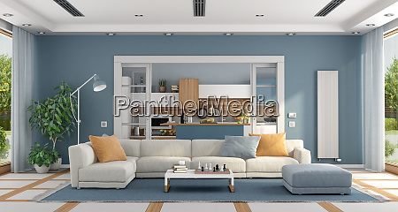 living room with sofa and modern
