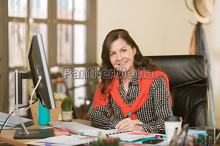 confident professional woman in a creative