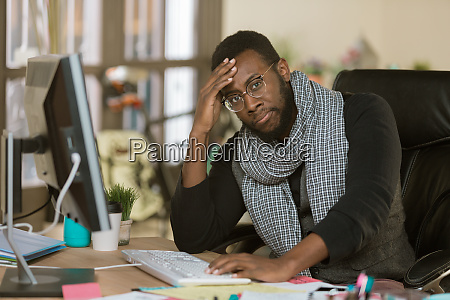 stressed creative business man in an