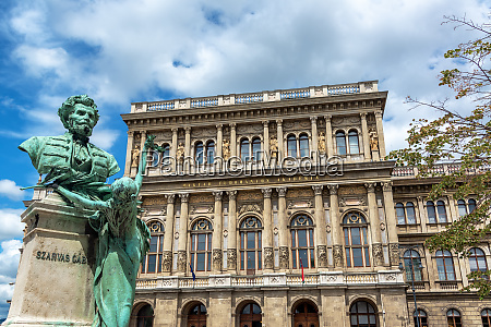 historic architecture in budapest hungary