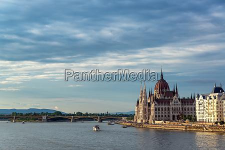 danube river and hungarian parliament