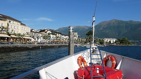 by boat to ascona