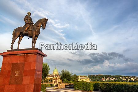 equestrian statue in budapest