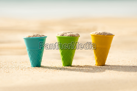 cones filled with sand dig on