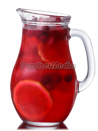 iced cranberry lemon drink pitcher paths