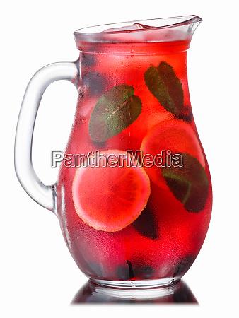 iced blueberry mint lemonade pitcher paths
