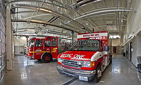 fire engine and medic one ambulance