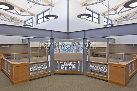empty contemporary school room