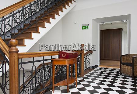 checkerboard corridor