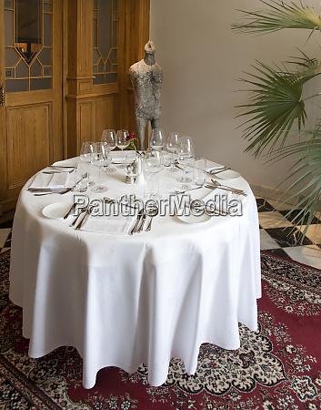 elegant dining setup