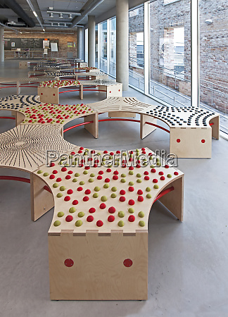 abstractly designed benches