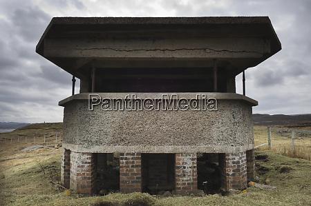 derelict ww2 gun emplacement