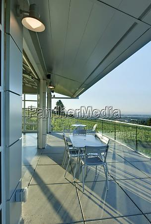 wine tasting balcony