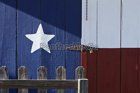 texas flag painted on a house