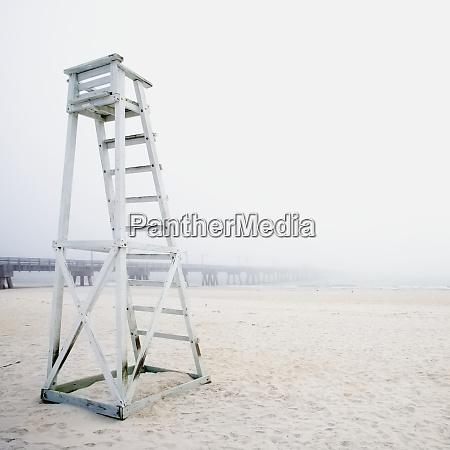 empty life guard station