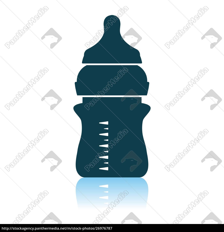 baby, bottle, icon - 26976787