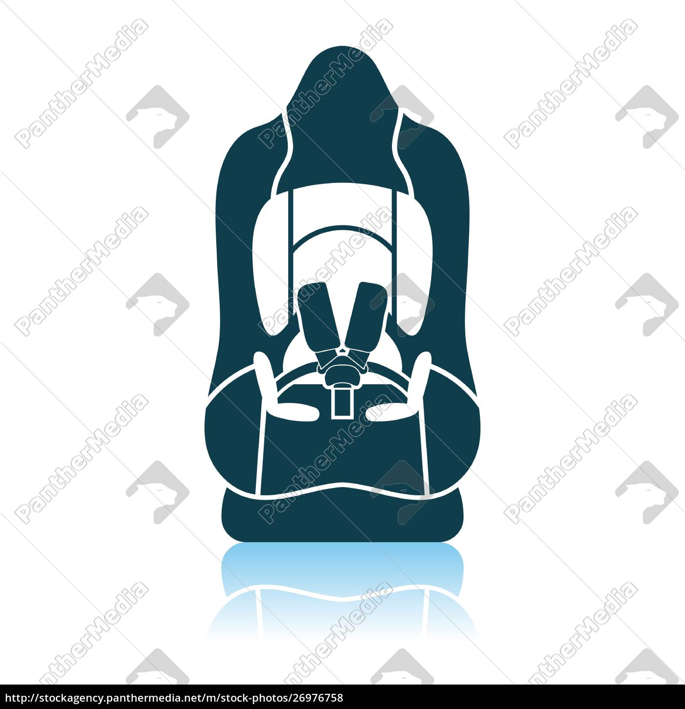 baby, car, seat, icon - 26976758