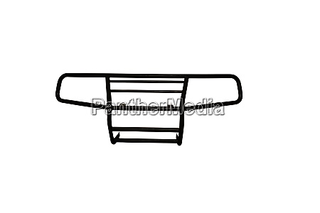 robust front protection bar on white
