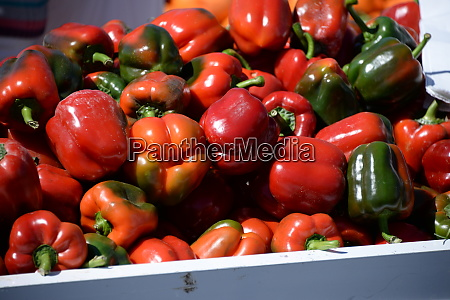 paprika at the weekly market in