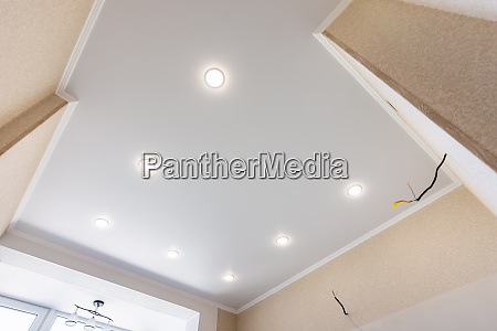 stretch ceiling in the kitchen with