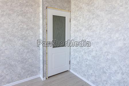 installed interior door after repair
