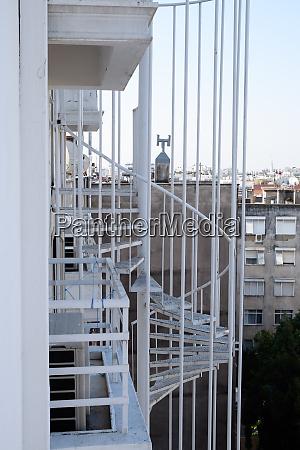 fire escape in hotel for evacuation