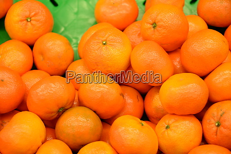 oranges at the weekly market in