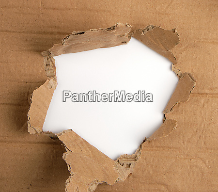 brown sheet of paper with a