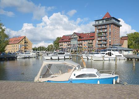 town harbor of neustrelitz in