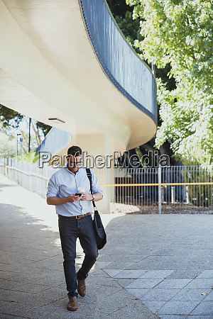 businessman walking to work