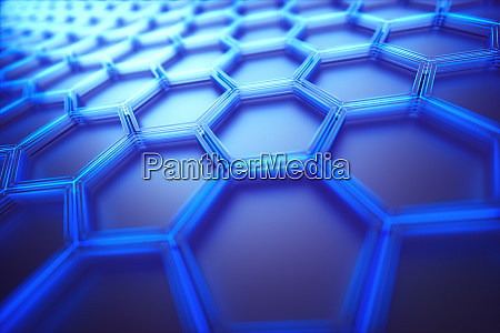 hexagonal connection science technology background
