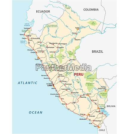 republic of peru road and national