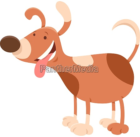 happy spotted dog cartoon character