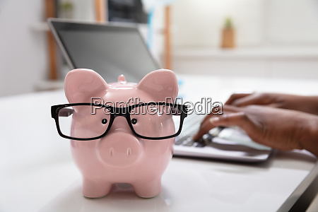 piggy bank in front of a