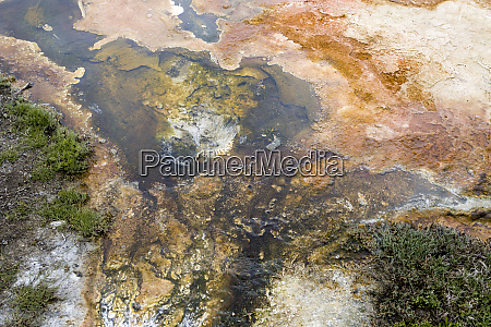 abstract overview of mammoth hot spring