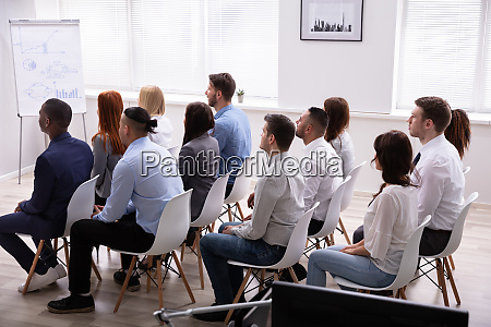 multi ethnic business people in meeting