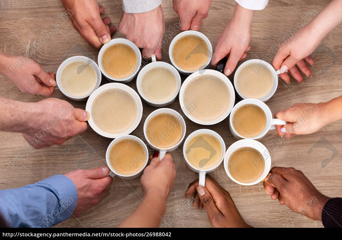 group, of, people, holding, coffee, cups - 26988042