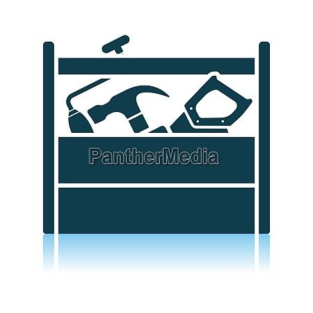 retro tool box icon