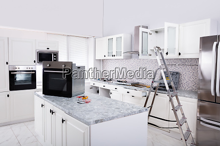 installation of luxurious oven in the