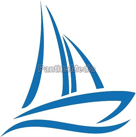 sailing ship logo design yacht