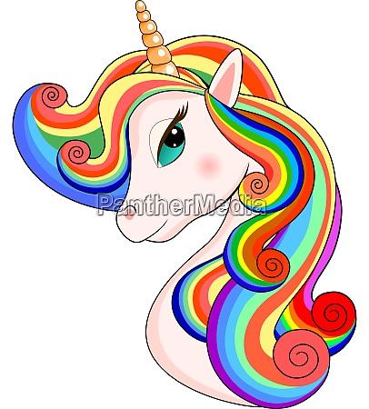 lovely unicorn head portrait