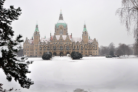 maschpark with snow in the
