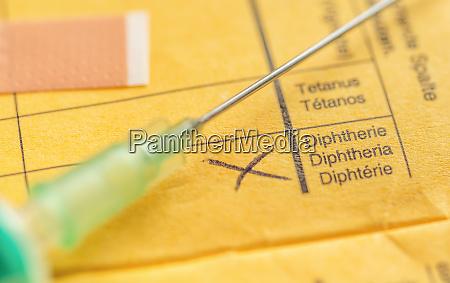 international certificate of vaccination disphtheria