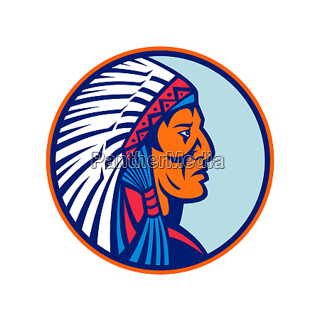 cheyenne chief head mascot