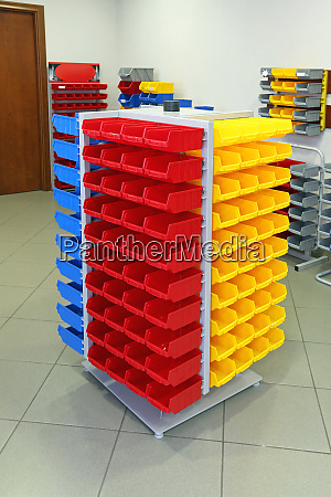 plastic bin racks