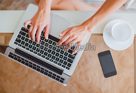 young girl woman working on a