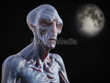 3d rendering of an alien creature