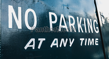 no parking at any time in